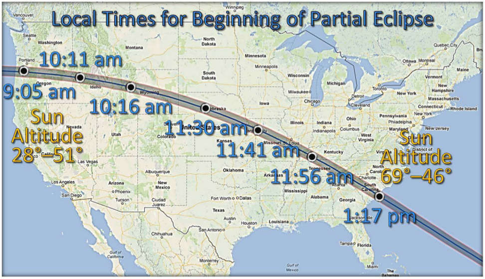 Path of 2017 Eclipse
